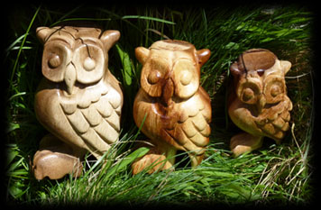 Hand Carved Wooden Owl Whistle